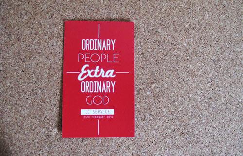 Ordinary People, Extraordinary God Business Card