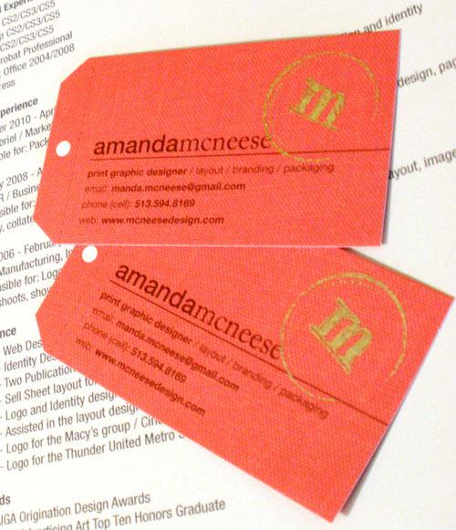 Business Card for: Amanda McNeese