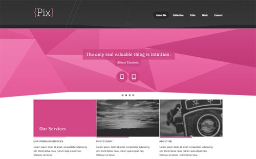 Pix - Free PSD Website Design