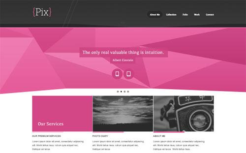 Pix - Free PSD Website Design