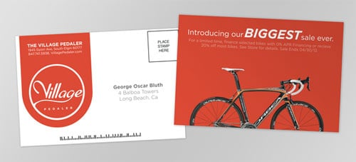 Village Pedaler Business Card
