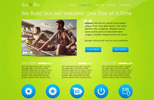 SickMedia: Free PSD Website Template