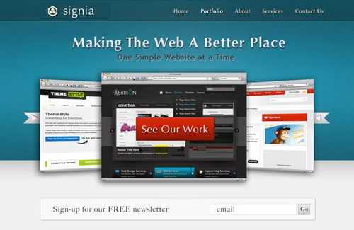 Signia: Free PSD Portfolio Template