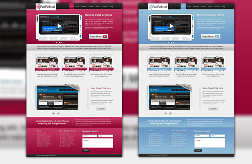 Perpetual: Free PSD Website Template
