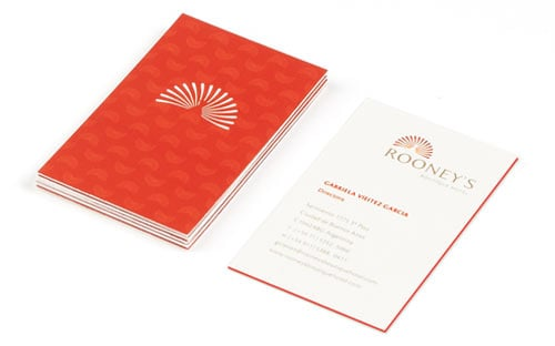 Rooney´s Boutique Hotel Buenos Aires Business Cards