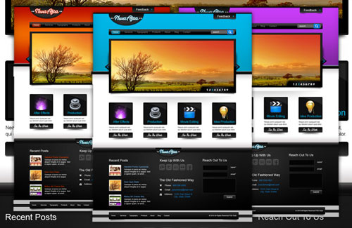 NeverAfter: Free PSD WordPress Template