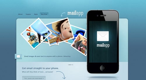 iPhone App Sales Web design