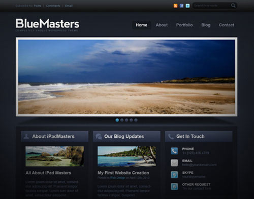 Free Professional PSD Template: BlueMasters