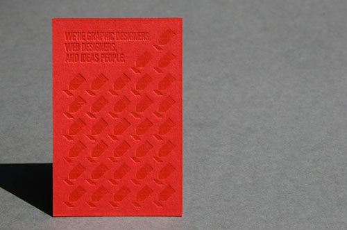 Red Letterpress Business Card