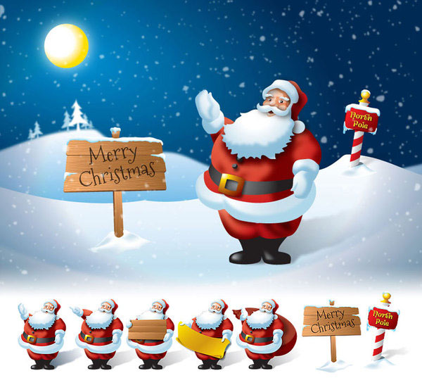 Creative Santa Claus Illustrations