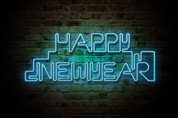 neon and new year