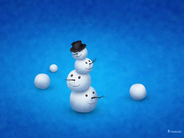 the merry snowman