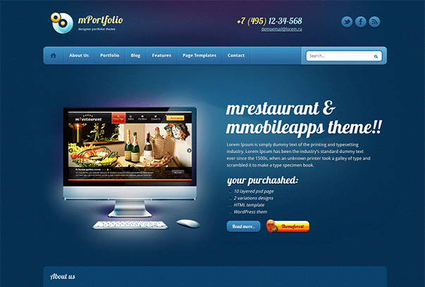 mPortfolio-WordPress-Theme
