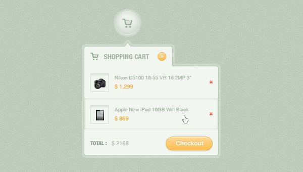 Shopping Cart Dropdown(PSD)