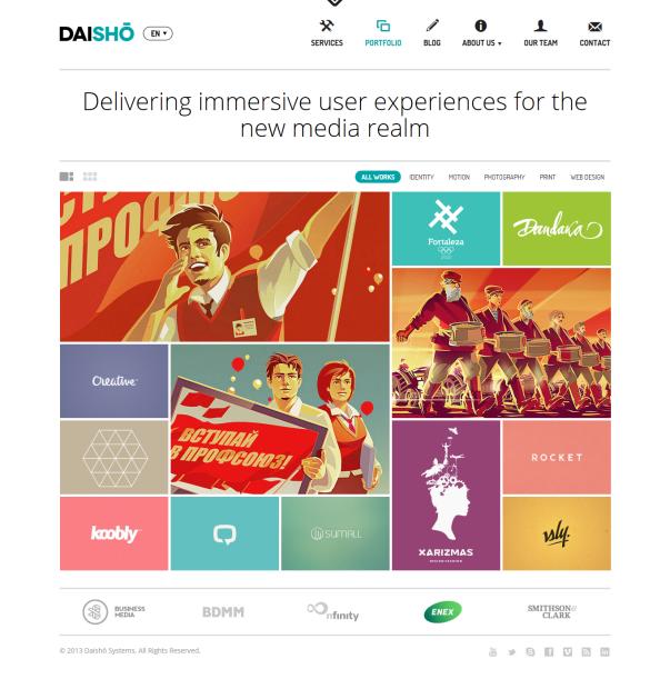 Dashio Clean & Minimalistic Typographic WordPress Themes