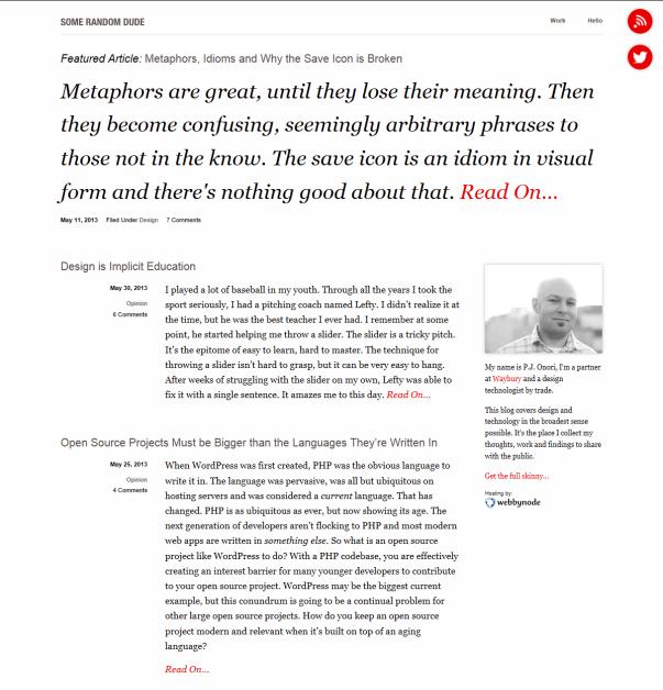 Clean & Minimalistic Typographic WordPress Themes