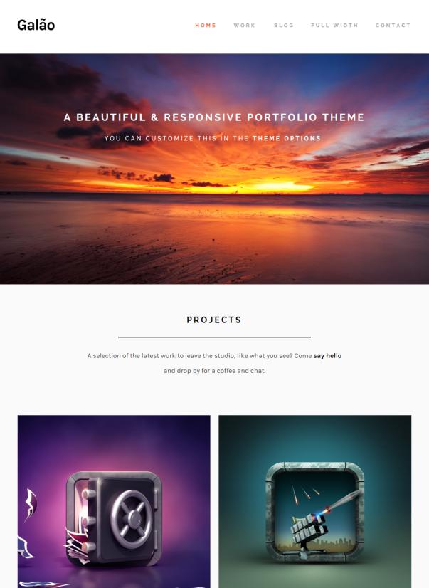 Galao Clean & Minimalistic Typographic WordPress Themes