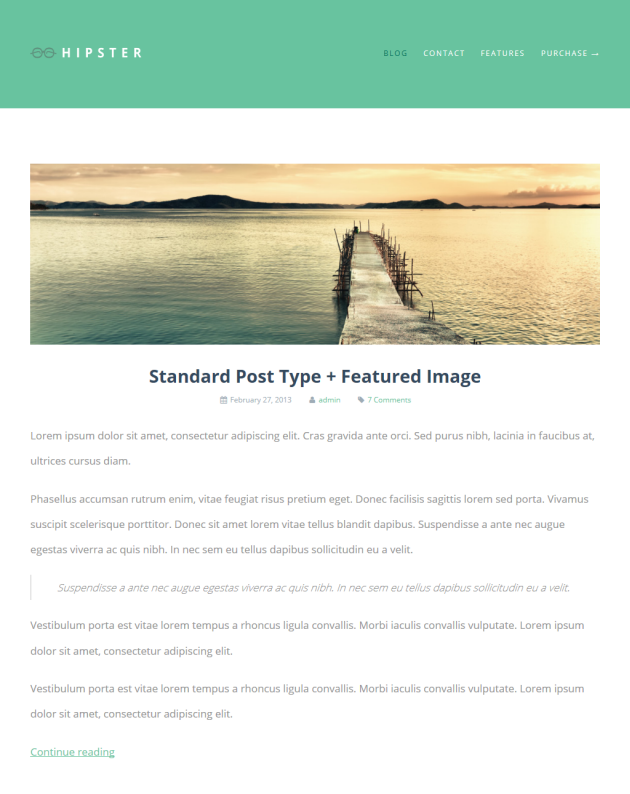 Hipster Clean & Minimalistic Typographic WordPress Themes