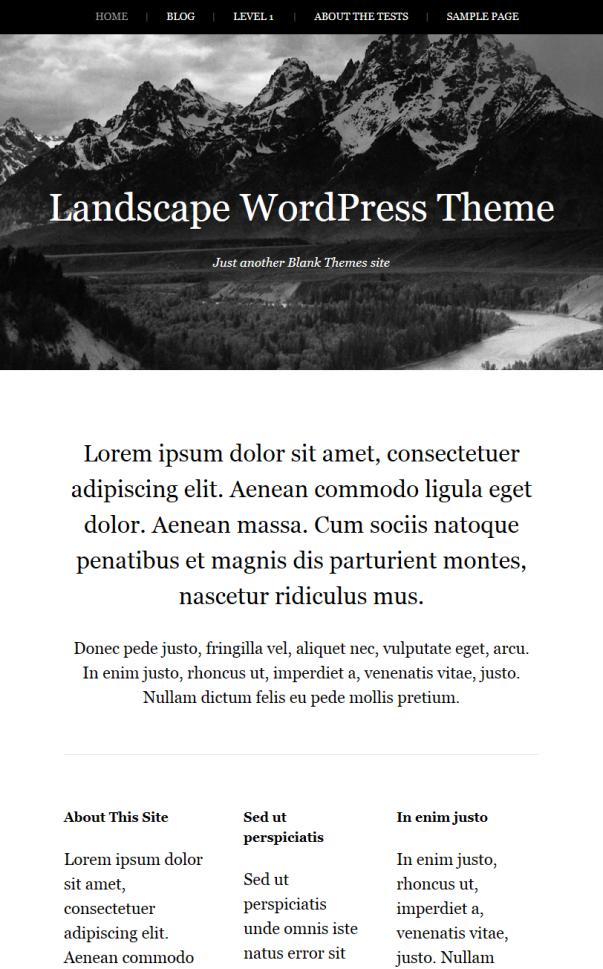 Landscape Clean & Minimalistic Typographic WordPress Themes