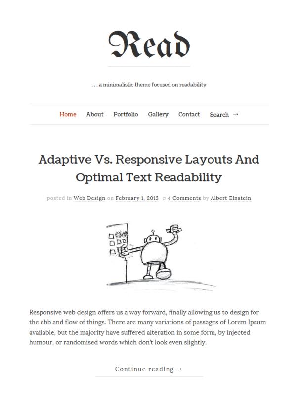 Read Clean & Minimalistic Typographic WordPress Themes