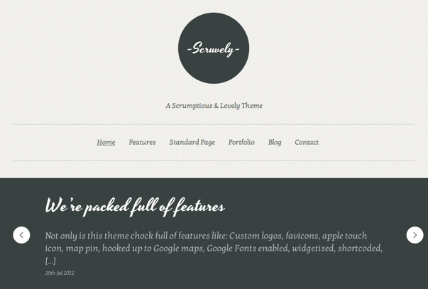 Scruvely Clean & Minimalistic Typographic WordPress Themes
