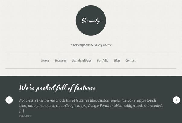 Scruvely WordPress Theme