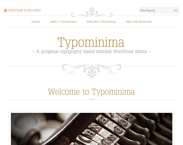 Typomania Clean & Minimalistic Typographic WordPress Themes