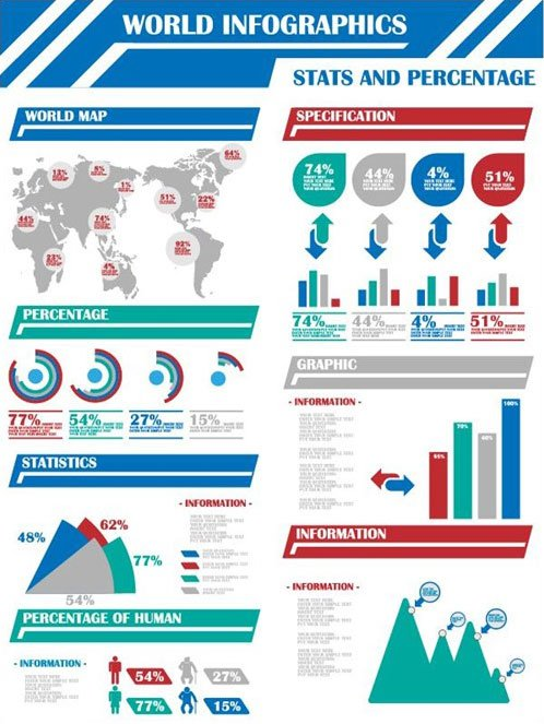 Vector-Infographics-of-World-Map
