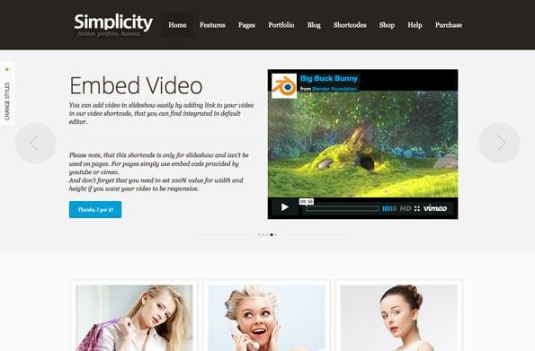 Simplicity - eCommerce WordPress Theme, Responsive