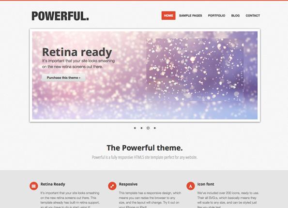 Powerful - Responsive, Retina-ready Theme