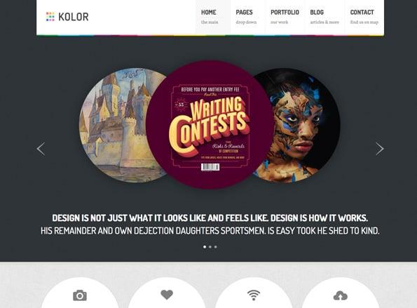 Kolor: Responsive Business and Portfolio Theme