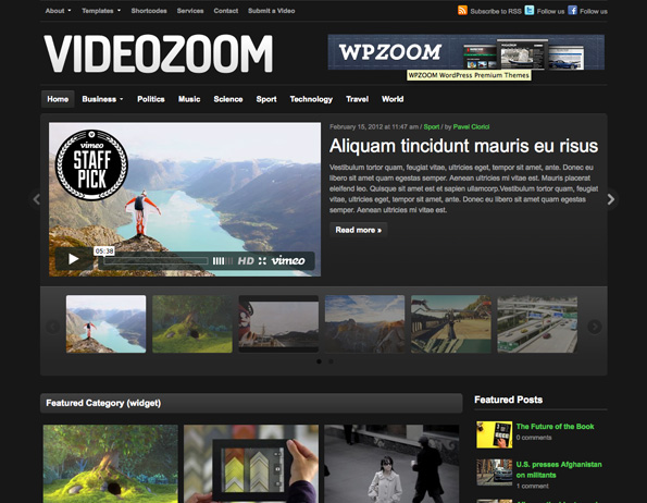 Videozoom - WordPress Video Theme