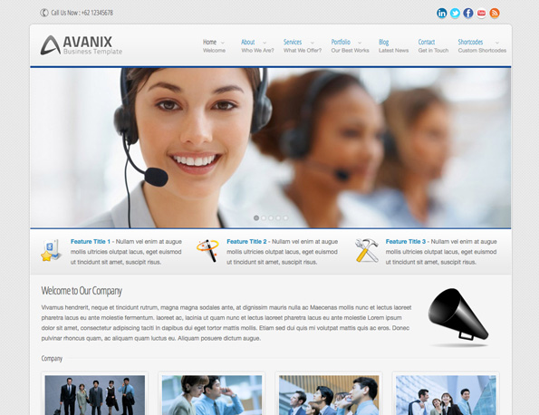Avanix - Responsive Business WordPress Theme