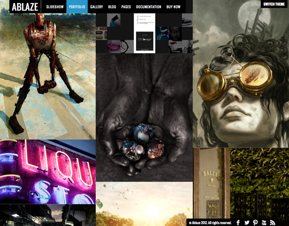 Ablaze - Responsive Fullscreen WordPress Theme
