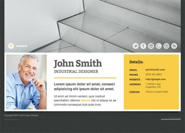 Self - A Responsive vCard WordPress Theme