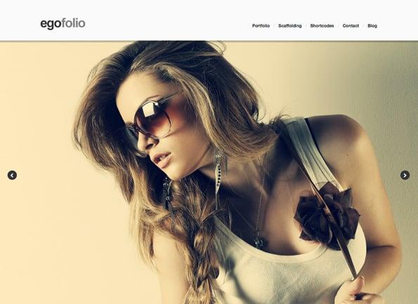 Egofolio: History Ajaxed Reponsive WordPress Theme