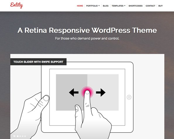 Entity - Retina Responsive WordPress Theme