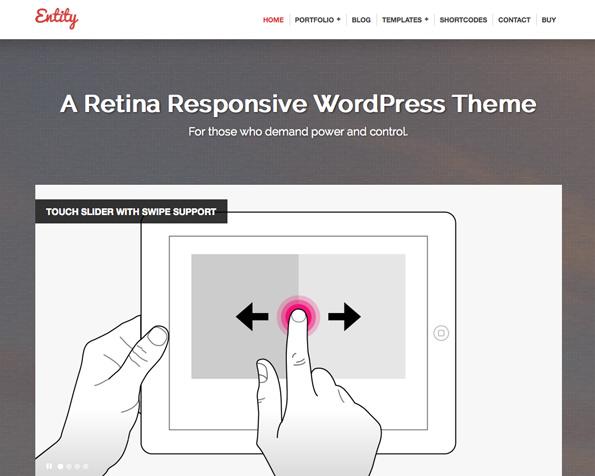 Entity - Retina Responsive WordPress Theme