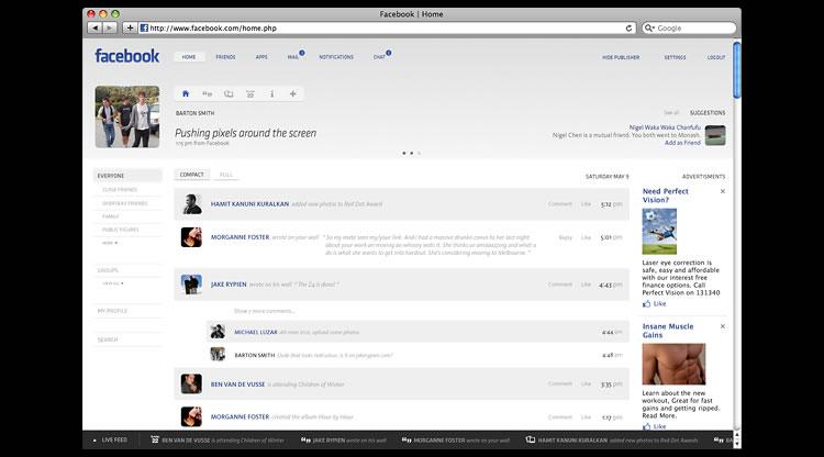 Facebook - Web Redesign Concept
