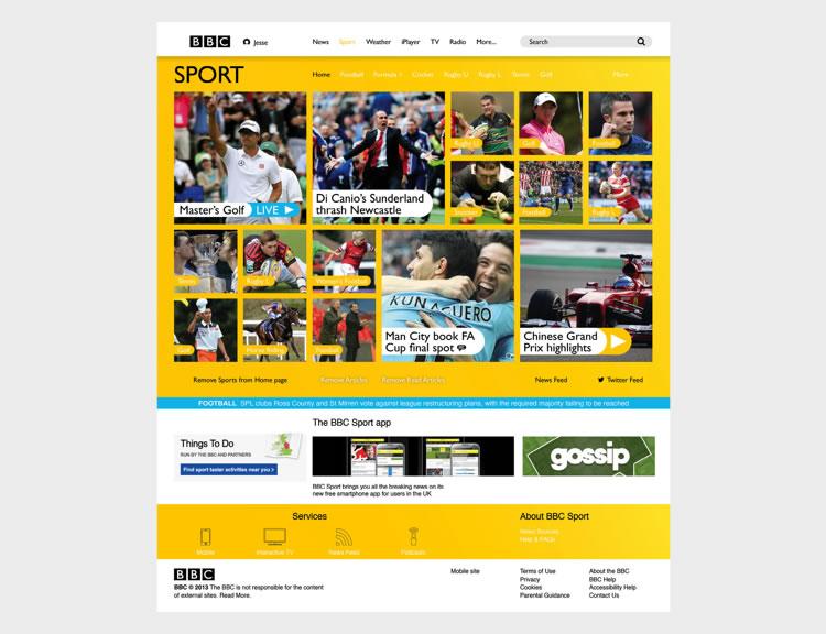 BBC Website - Web Redesign Concept