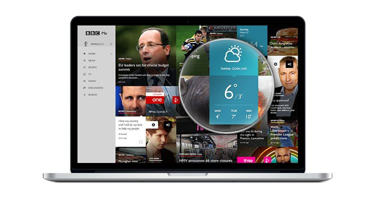 BBC Me - Web Redesign Concept