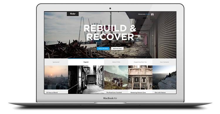 Flickr - Web Redesign Concept