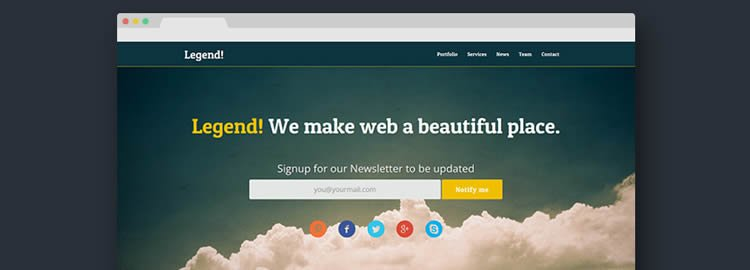 Legend Responsive One Page Template