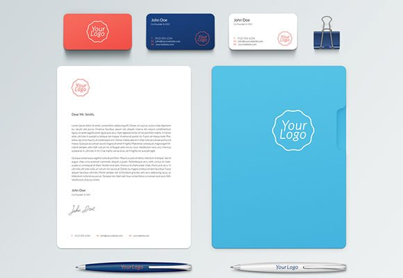 Corporate stationary mockup PSD