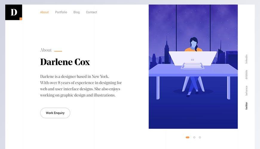 Designers Portfolio Web Design Template