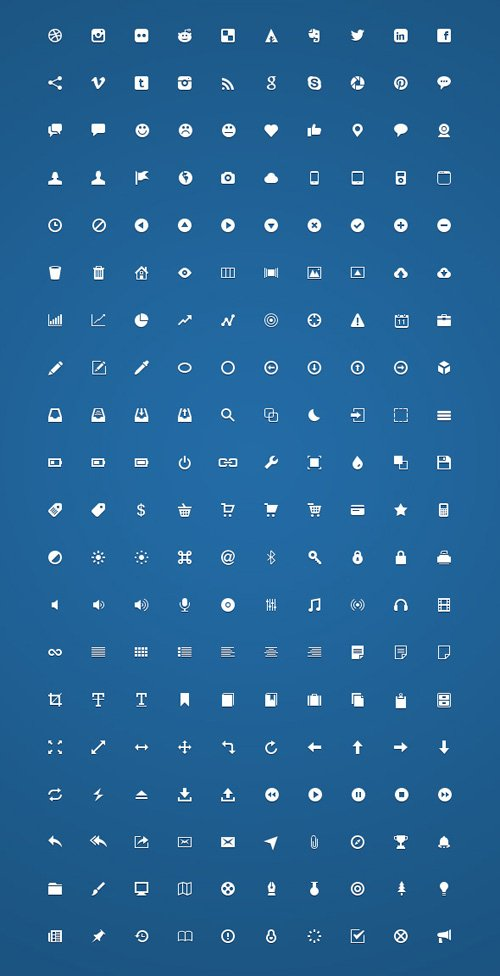 200 Free Handcrafted Micro Icons