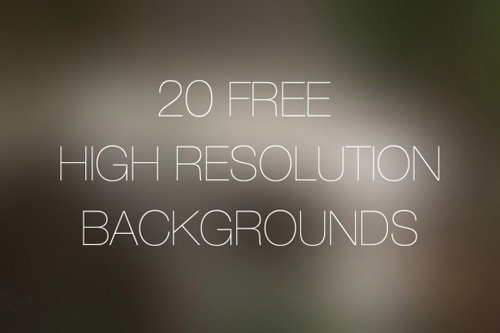 20 Free High Resolution Backgrounds