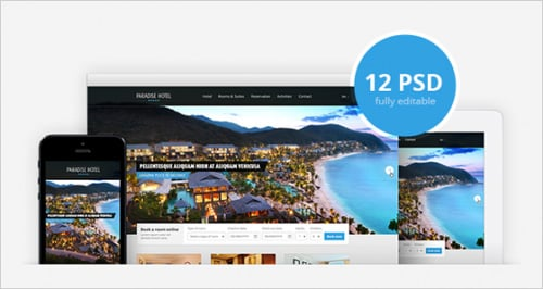 Free Hotel Web Template (PSD)