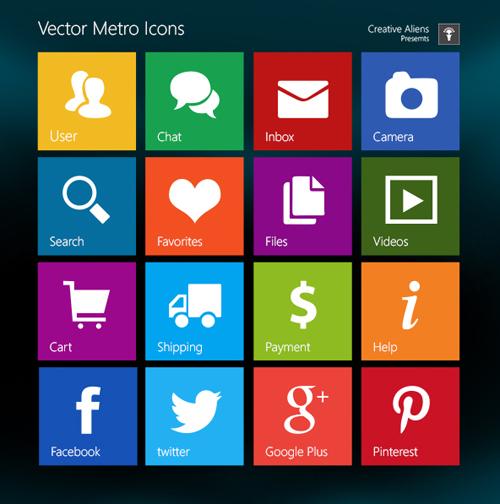 Free Metro Style Icons