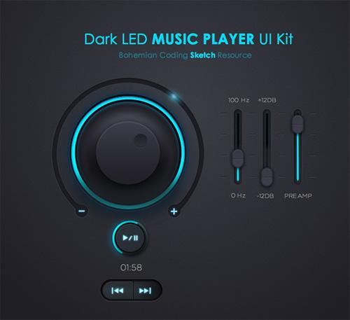 Free Music Player UI Kit